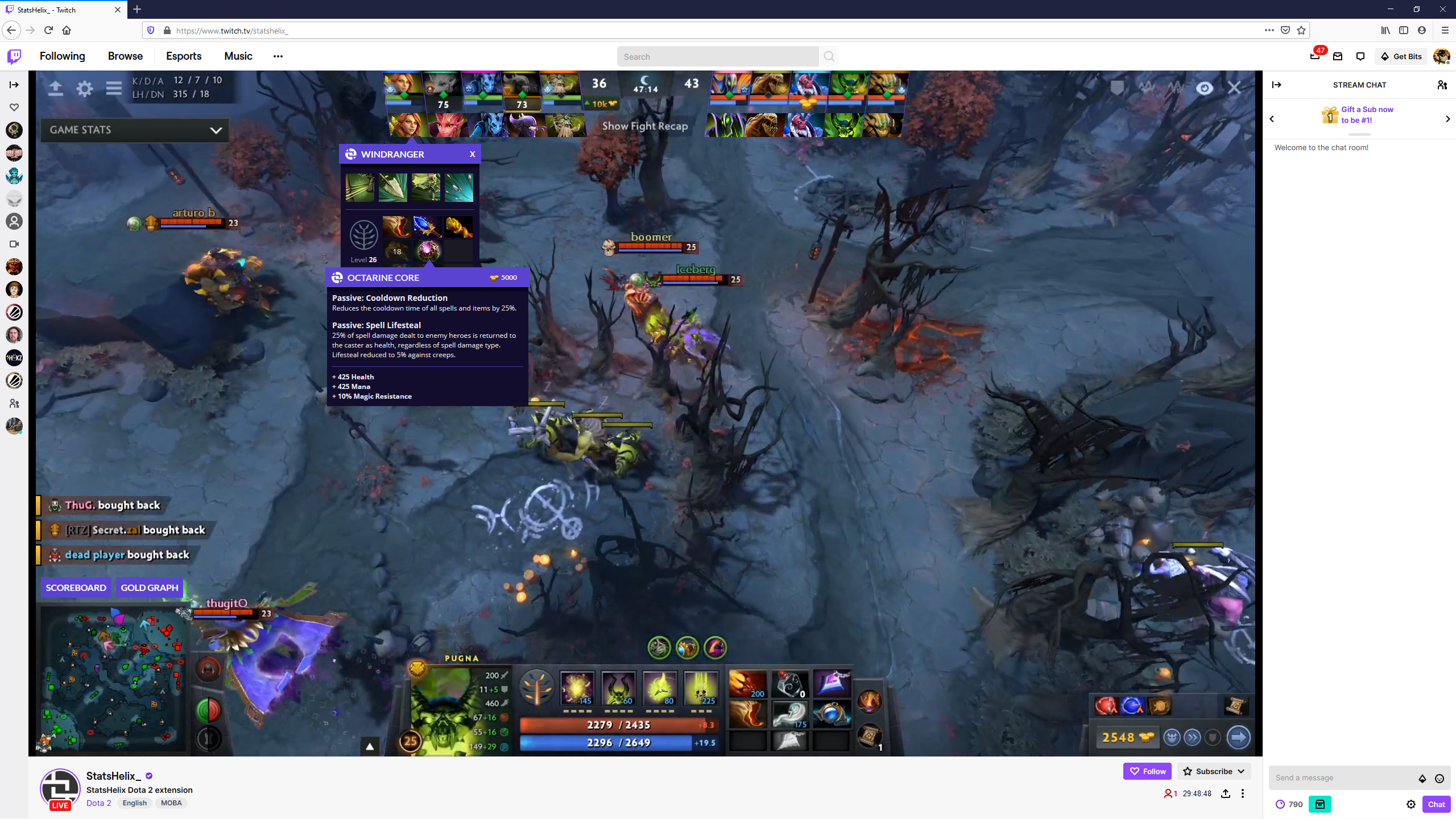 Dota 2 Esports Extension – Reinventing the MOBA Viewing Experience